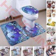 sea world design 3 piece bathroom carpet pedestal lid mat toilet