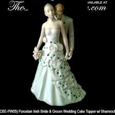 and groom wedding cake toppers wedding cake topper shamrock and groom
