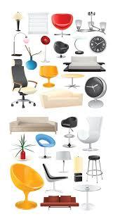 4 designer home home decoration vector material