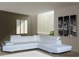 canapé blanc d angle canapé d angle simili cuir 5 places avec têtières réglables