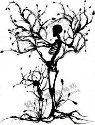 aliexpress com buy skull tree vinly wall sticker halloween skull
