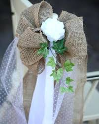 how to make chair sashes burlap chair bows wedding chairs a how to make burlap and tulle