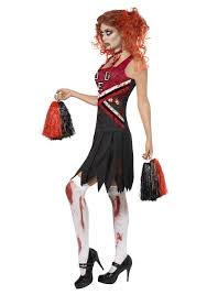 Girls Cheerleader Halloween Costume Zombie Cheerleader Costume