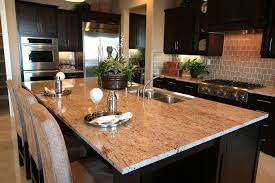 Dark Cabinets Light Countertops Dark Kitchen Cabinets With Light Granite Extraordinary Laundry