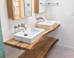 slab sink live edge vanity etsy