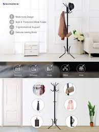 amazon com songmics coat rack stand entryway hat purse display