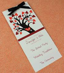 fall wedding programs fall wedding program template with heart tree print