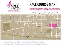 Map Of St Louis Area 2017 Komen Greater St Louis Race For The Cure Race Information