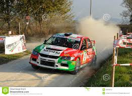 mitsubishi rally car mitsubishi lancer evo ix rally car editorial stock photo image