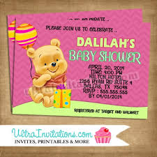 winnie the pooh baby shower invitations winnie the pooh invites baby shower diy digital or prints
