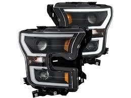 ford f150 headlight bulb 2015 2017 f150 anzo led outline projector headlights black