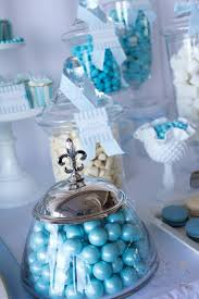 Centerpieces For Baptism Kara U0027s Party Ideas Blue Christening First Birthday Party Planning
