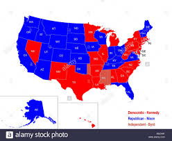 Map Election by United States Presidential Election Results Map For 1960 Stock
