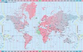 Pacific Time Zone Map Maps World Map With Time Zones