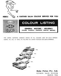 1957 holden paint charts and color codes