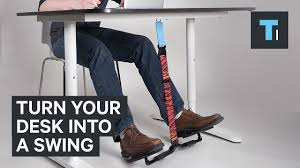 Foot Hammock For Desk This Attachment Turns Your Desk Into A Swing Youtube