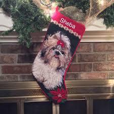 shih tzu dog stocking personalized christmas stockings dog