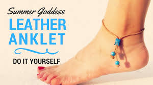 ankle bracelet jewelry images How to make a beautiful leather summer anklet diy beach ankle jpg