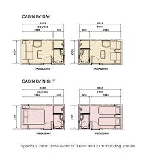 luxury cabin floor plans luxury club the ghan across australia