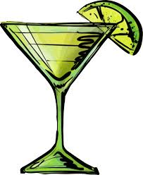 martini silhouette vector alcohol clipart