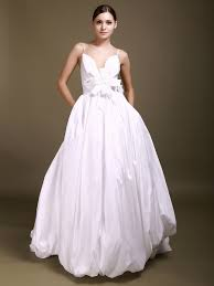 spaghetti wedding dress gown v neck spaghetti straps backless taffeta wedding dresses