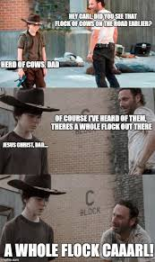 Dad Memes - the walking dead 23 of the funniest rick carl dad jokes smosh