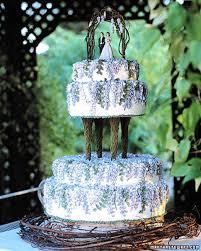 blue and purple wedding cakes martha stewart weddings
