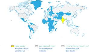 Africa And Europe Map by Market Research Fieldwork Coverage In India And Globally