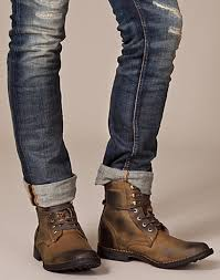 brown boots cuffed pants dressing the band pinterest shoes men