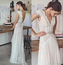 boho wedding dresses lihi hod 2017 bohemian bridal gowns with cap