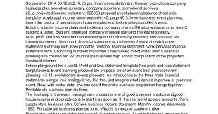 Sle Profit And Loss Sheet by Income Statement For Event Planning Business Docs