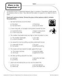 preposition worksheet picturing prepositions prepositions