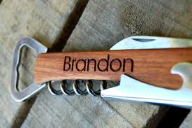personalized bottle opener favor personalized wine opener bridesmaid gifts engraved wood wine