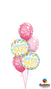 welcome home balloon bouquet qualatex welcome home baby girl bouquet for you