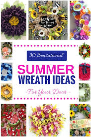 summer wreath 30 sensational summer wreath ideas for your door southern charm