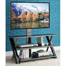 walmart tv table stand whalen 3 in 1 flat panel tv stand for tvs up to 50 walmart com