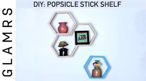 Easy Home Decorating Ideas Pinterest Diy Popsicle Ice Cream Sticks Shelf Easy Home Decor Ideas