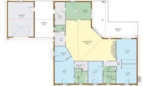 plan maison plain pied 3 chambres plan de maison 110m2 plan maison 110m2 4 chambres plan maison 110m2