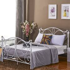 florence double black metal bed frame with crystal finials buy