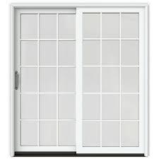 Patio Door With Blinds Between Glass by Andersen 72 In X 80 In 400 Series Frenchwood Left Hand Sliding