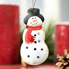 small primitive metal snowman ornament signs ornaments home