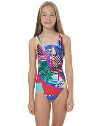 speedo kids girls leaderback one piece endless summer surfstitch