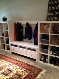 Mudroom Cabinets Ikea Furniture White Wooden Mudroom Lockers Ikea With 3 Drawers And