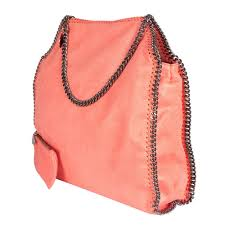 stella mccartney orange faux leather falabella tote my luxury