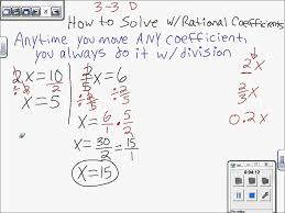 solving equations with rational coefficients linear 7th grade