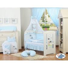 chambre bébé bourriquet lit pour bébé parure bleue motif âne lit pour enfant avec matelas