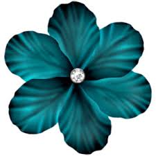 teal flowers sd db flower 3 png polyvore