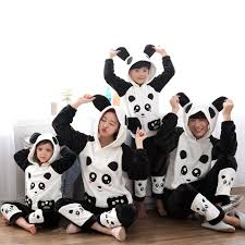 matching family pajamas for the whole family panda boy children