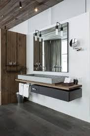 modern hotel bathroom drawer under floating trough sink wink chic bathroom
