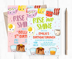 brunch invites breakfast invitation birthday brunch invitation kids